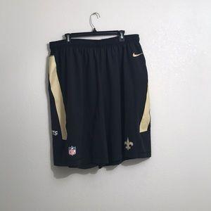 Nike Dri Fit NFL  New Orlean Saints Shorts XL